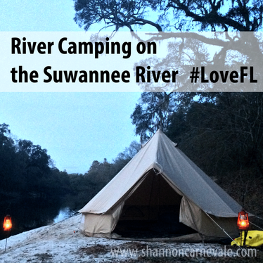 Tips for River Camping on the Suwannee River in North Central Florida from www.ShannonCarnevale.com #Camping #Canoeing