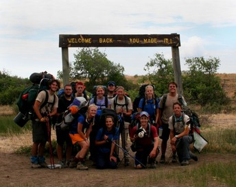 Philmont Crew from 2006, hiking back into basecamp.